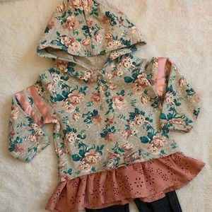 Little Lass Matching Sets - Little lass hoodie w/jeans